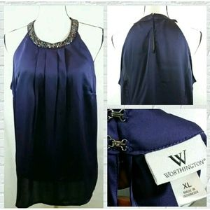 Worthington size XL women's purple tunic top